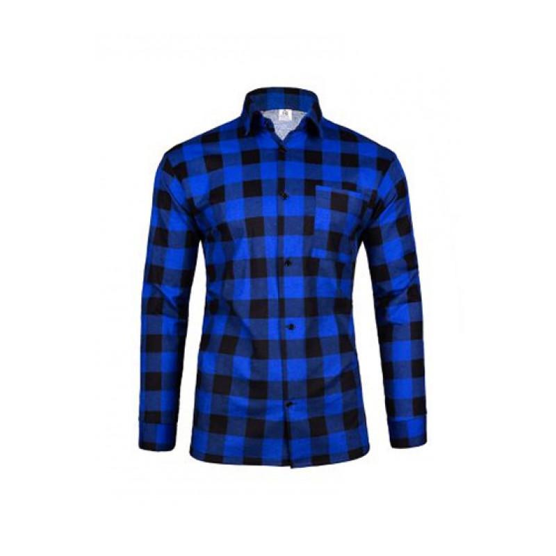 Pánska flanelová košeľa  modro čierna