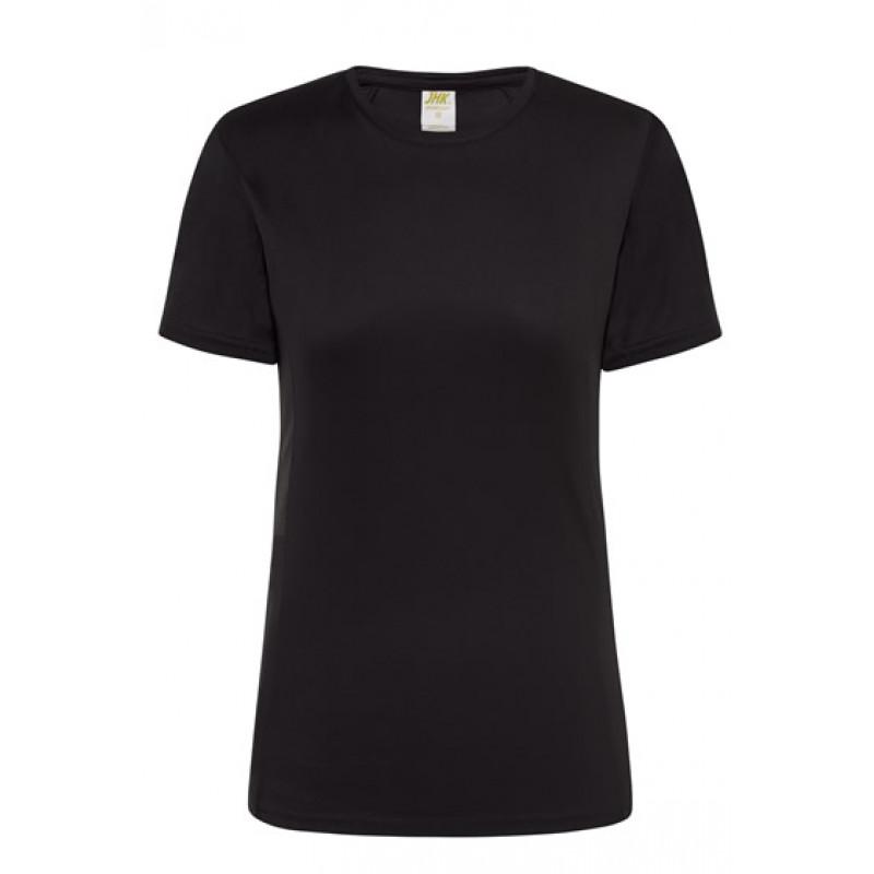 Dámske športové tričko čierne