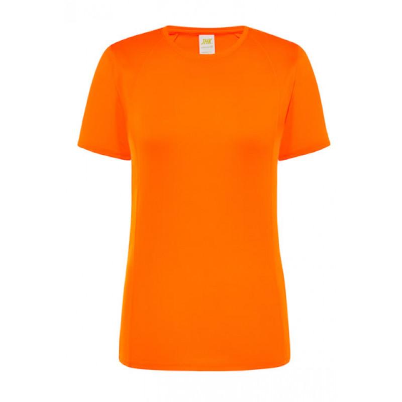 Dámske športové tričko fosforová oranžová