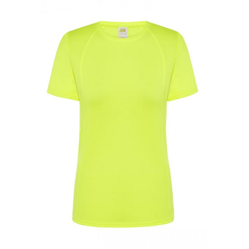 Dámske športové tričko fosforová fuchsiová