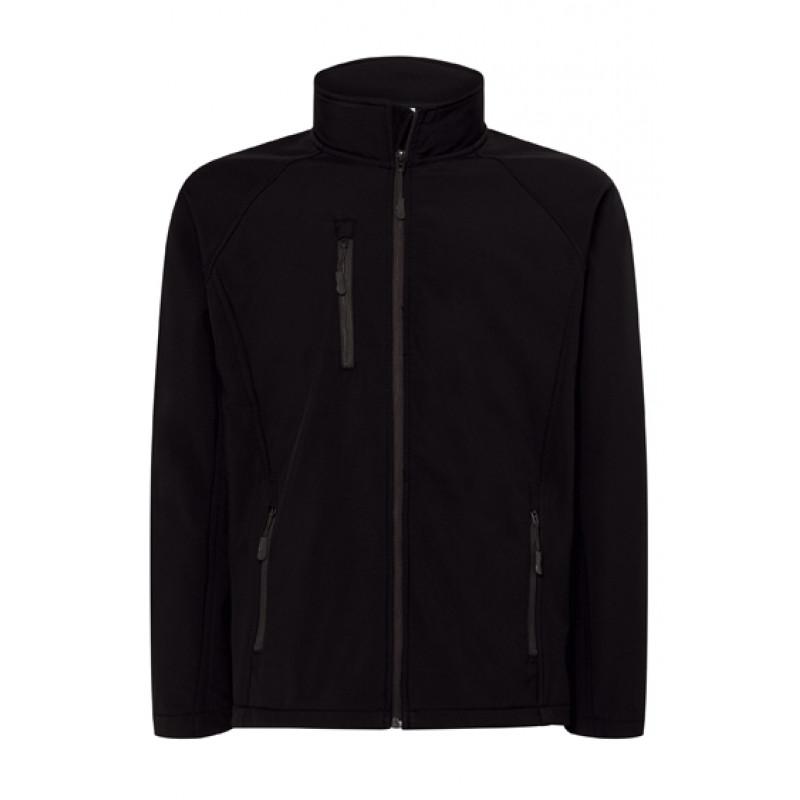Pánska softshellová bunda čierna