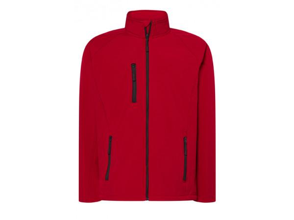 Pánska softshellová bunda červená
