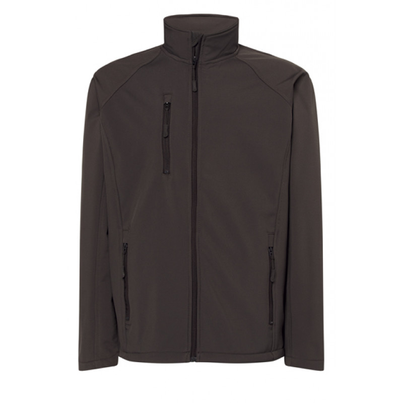 Pánska softshellová bunda tmavo sivá