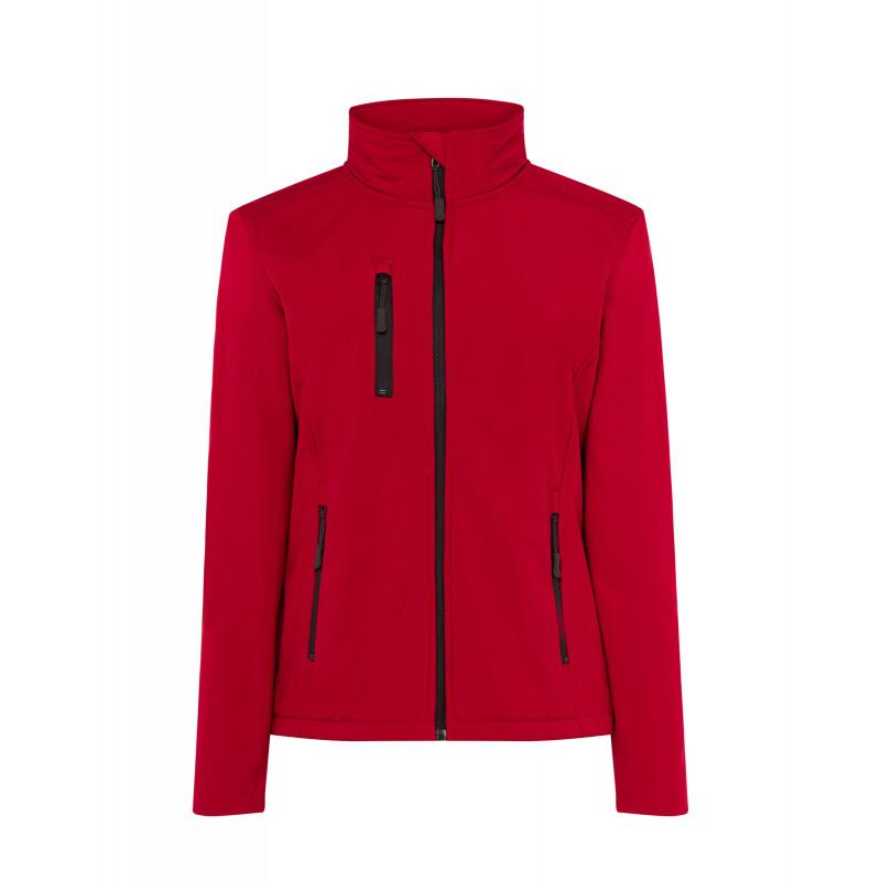 Dámska softshellová bunda červená