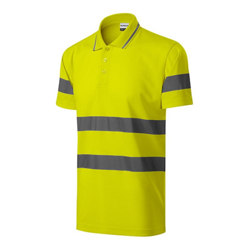 Unisex polokošeľa HV RUNWAY žltá