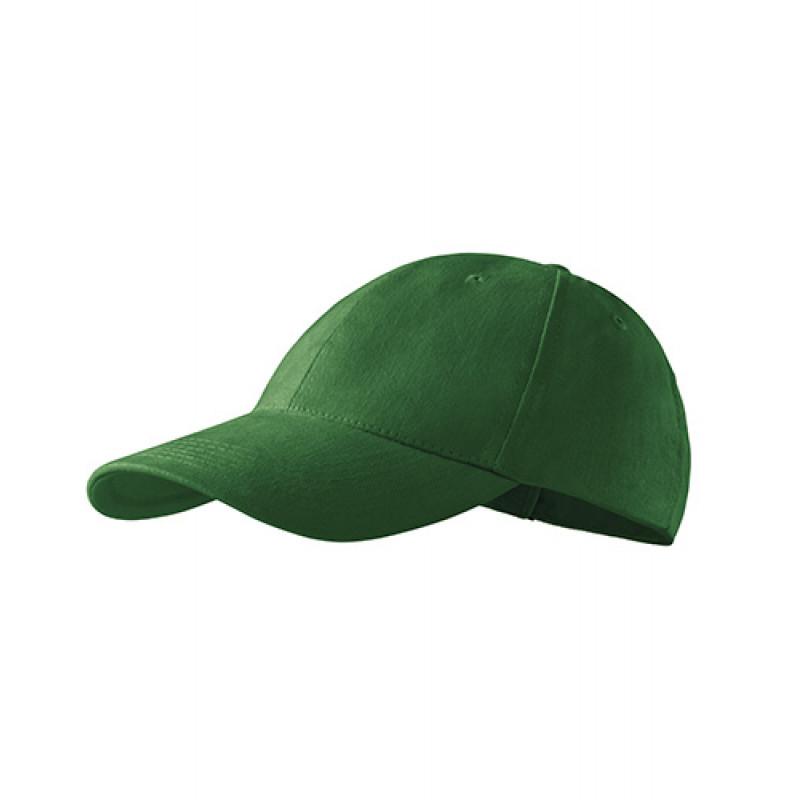 Unisex Čiapka 6P fľaškovo zelená