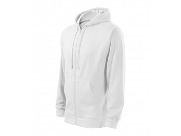 Pánska mikina  Trendy Zipper biela