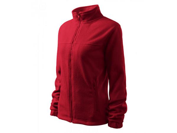 Dámska Fleece Mikina 1 tmavočervená