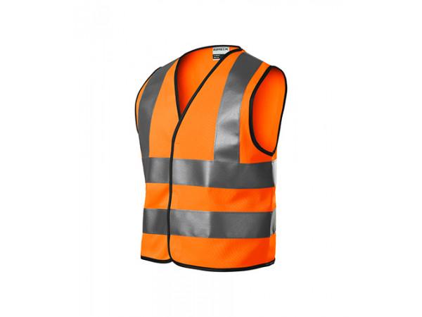 Detská Bezpečnostná Vesta HV BRIGHT oranžová