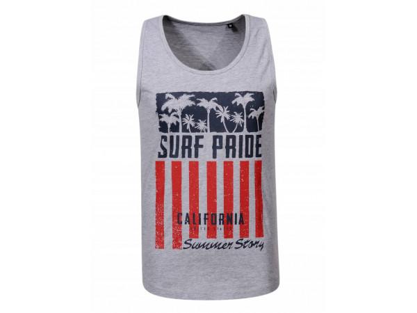 Pánske tričko GLO-STORY sivé s dizajnom USA a nápisom