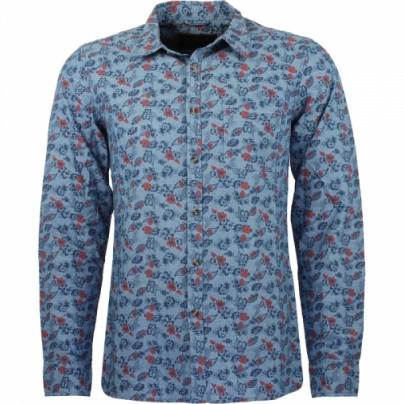 Pánska košeľa GLO-STORY modrá, so vzorovaním