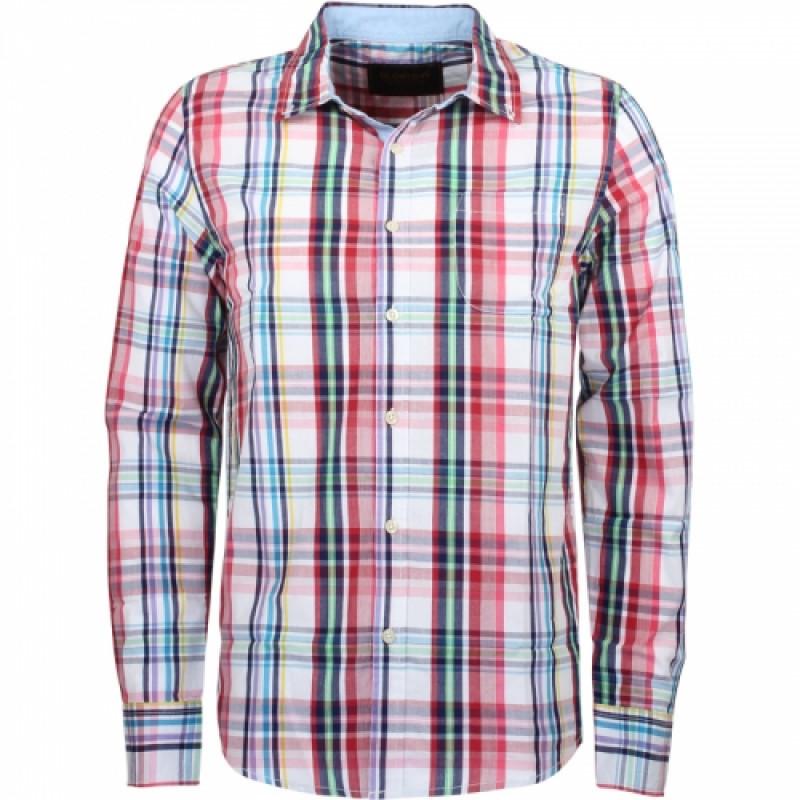 Pánska košeľa GLO-STORY biela, viacfarebné károvanie