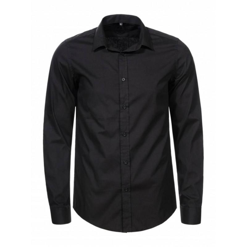 Pánska košeľa GLO-STORY čierna  SLIM