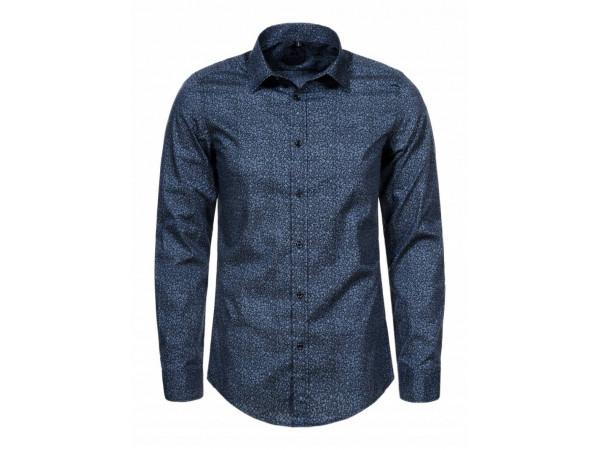 Pánska košeľa GLO-STORY modrá, s melírom