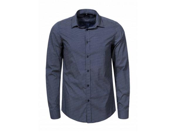 Pánska košeľa GLO-STORY tmavomodrá, s jemným melírovaním