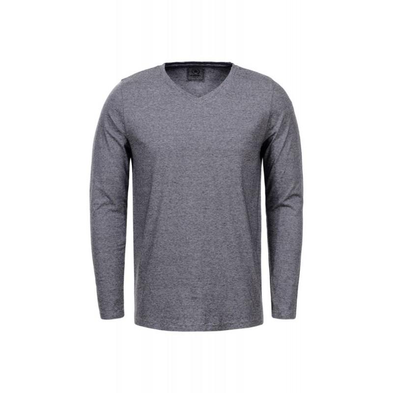 Pánske tričko s dlhým rukávom GLO-STORY svetlosivé