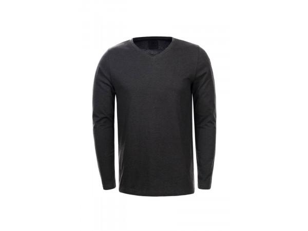 Pánske tričko s dlhým rukávom GLO-STORY tmavosivé