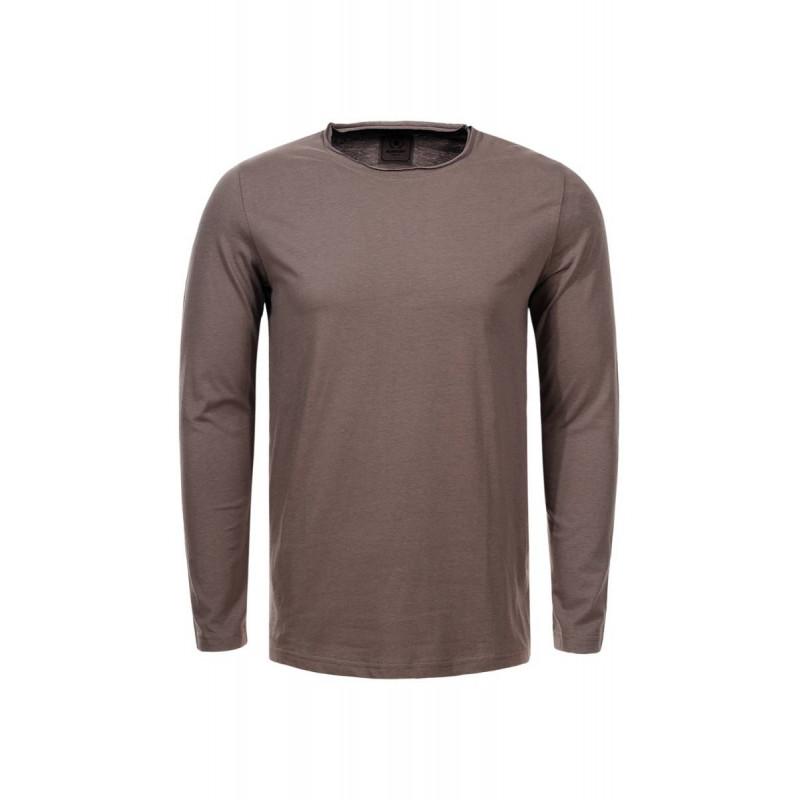 Pánske tričko s dlhým rukávom GLO-STORY svetlohnedé