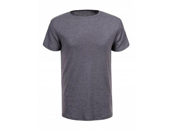Pánske tričko GLO-STORY sivé, melírované basic