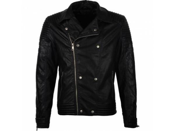 Pánska kožená bunda GLO-STORY čierna