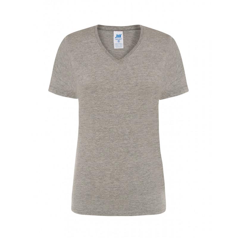 Dámske tričko s krátkym rukávom sivý melír