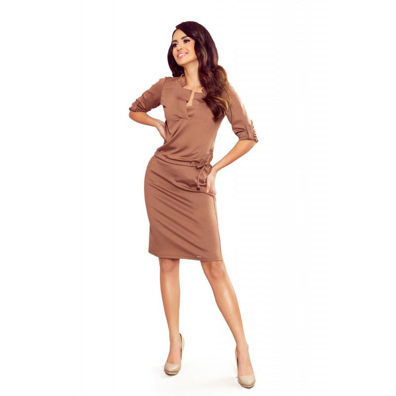 Dámske šaty svetlo hnedé