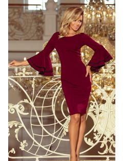 Dámske elegantné šaty Bordové
