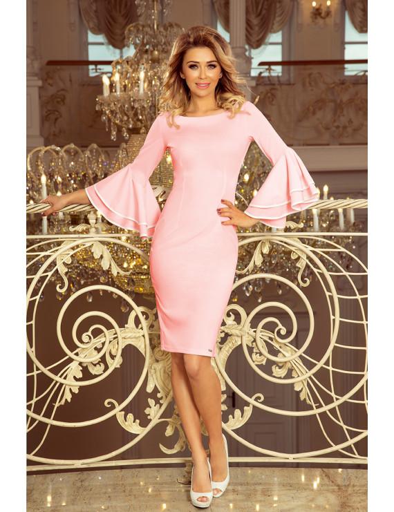 Dámske elegantné šaty pastelovo ružové