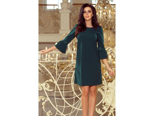 Dámske elegantné šaty tmavo zelené