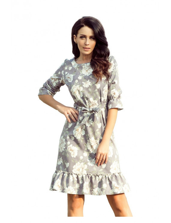 Dámske elegantné šaty sivé