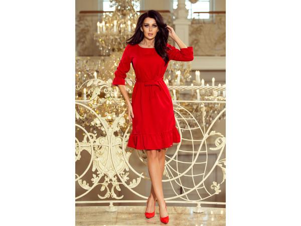 Dámske elegantné šaty červené