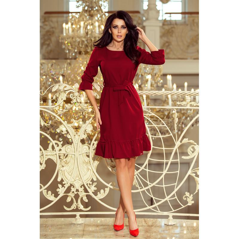 Dámske elegantné šaty bordová farba