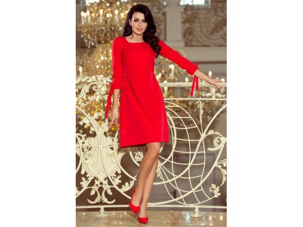 Dámske elegantné šaty červená farba