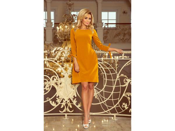 Dámske elegantné šaty horčicová