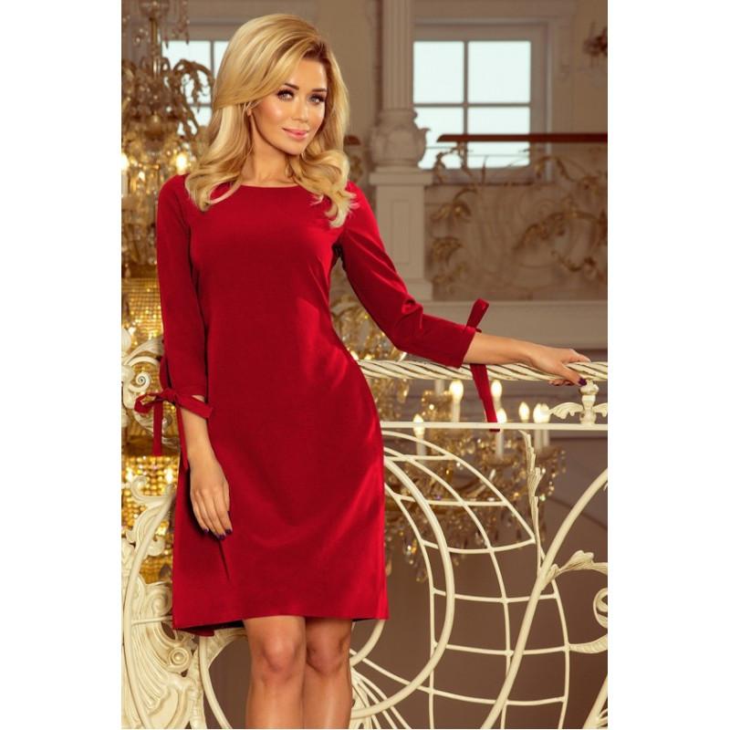 Dámske elegantné šaty červená
