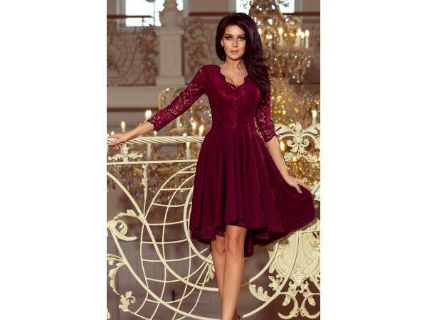 Dámske elegantné šaty bordová