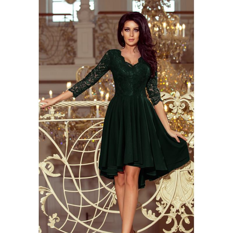 Dámske elegantné šaty zelené