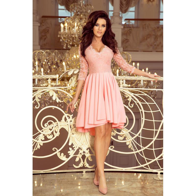 Dámske elegantné šaty pastelovo ružová