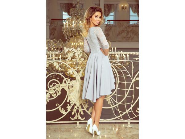 Dámske elegantné šaty sivej farby