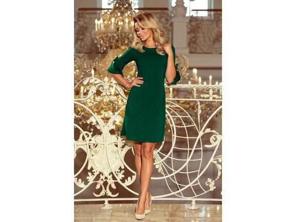 Dámske trapézové šaty zelená