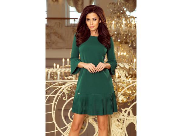 Dámske elegantné šaty zelená farba