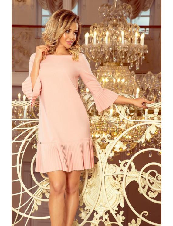 Dámske elegantné šaty ružovej farby