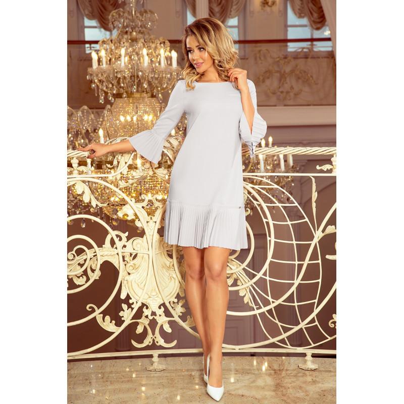 Dámske elegantné šaty svetlo sivé