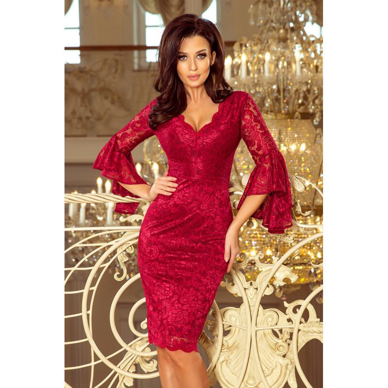 Dámske elegantné šaty vínové