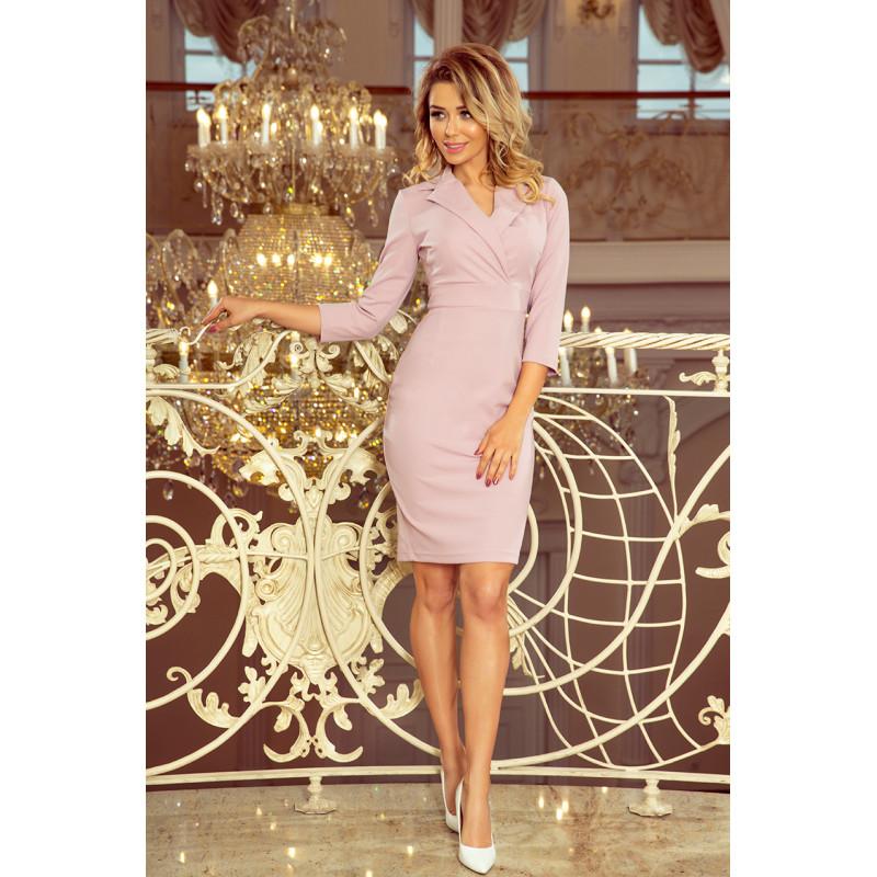 Dámske elegantné šaty lilavá farba
