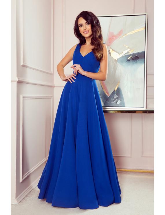 Dámske elegantné šaty kráľovská modrá