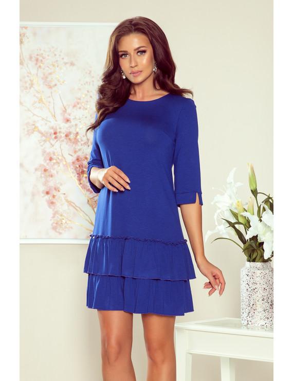 Dámske elegantné šaty modrej farby