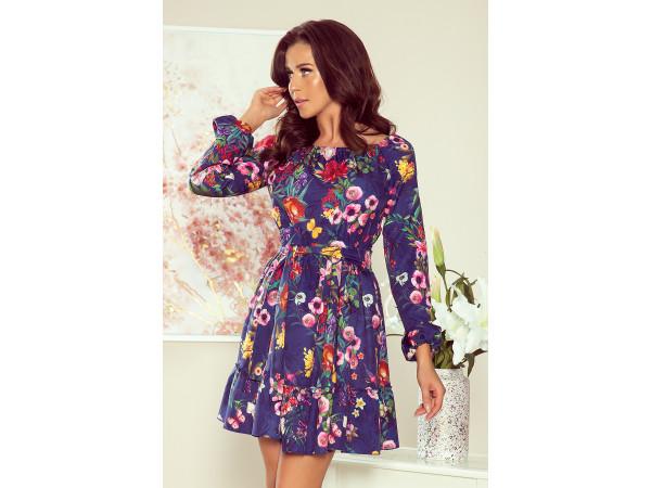 Dámske elegantné  šaty fialové