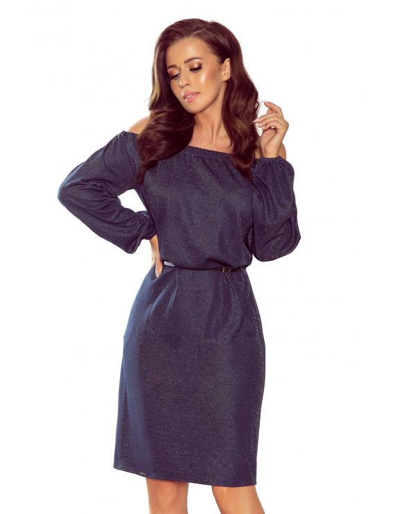 Dámske elegantné šaty tmavá modrá