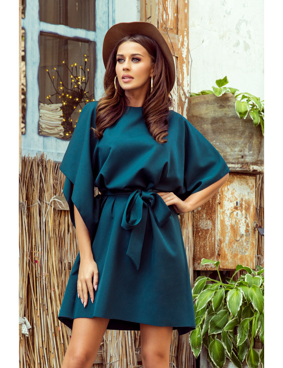 Dámske elegantné šaty smaragdová